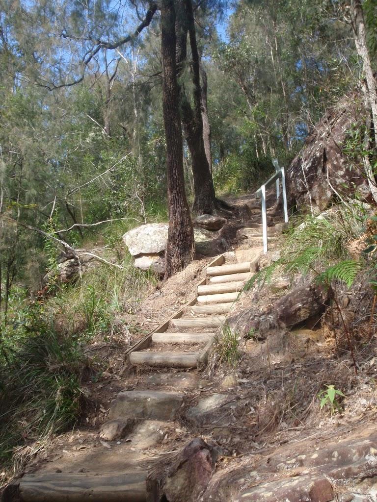 climbing up over ridge