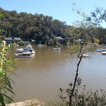 view of Berowra Waters from track