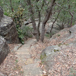 Stairs down through rock formations (73647)