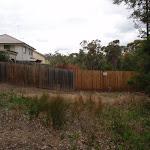 Fence line below Blaxland Library car park (73743)