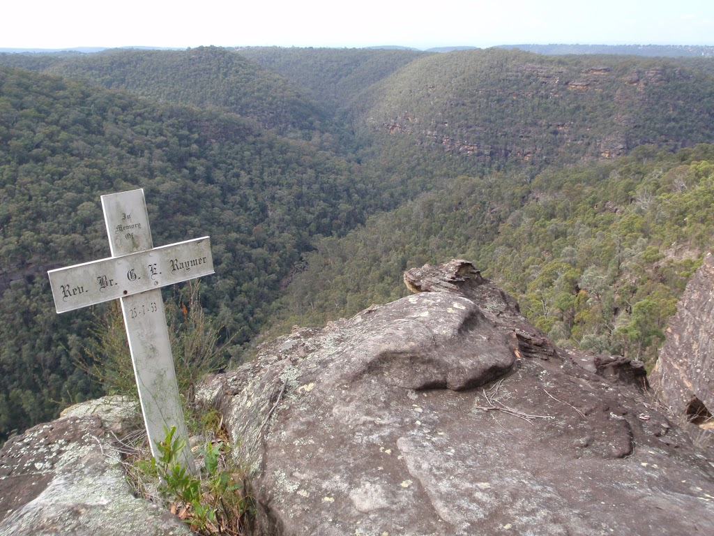 View past crucifix at Lost Worlds Lookout
