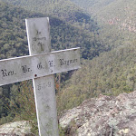 Memorial cross at Lost Worlds Lookout (74220)