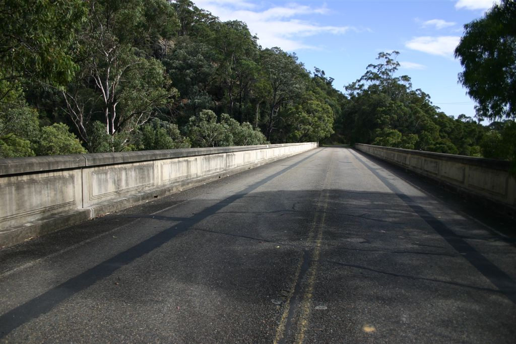 The top of the bridge