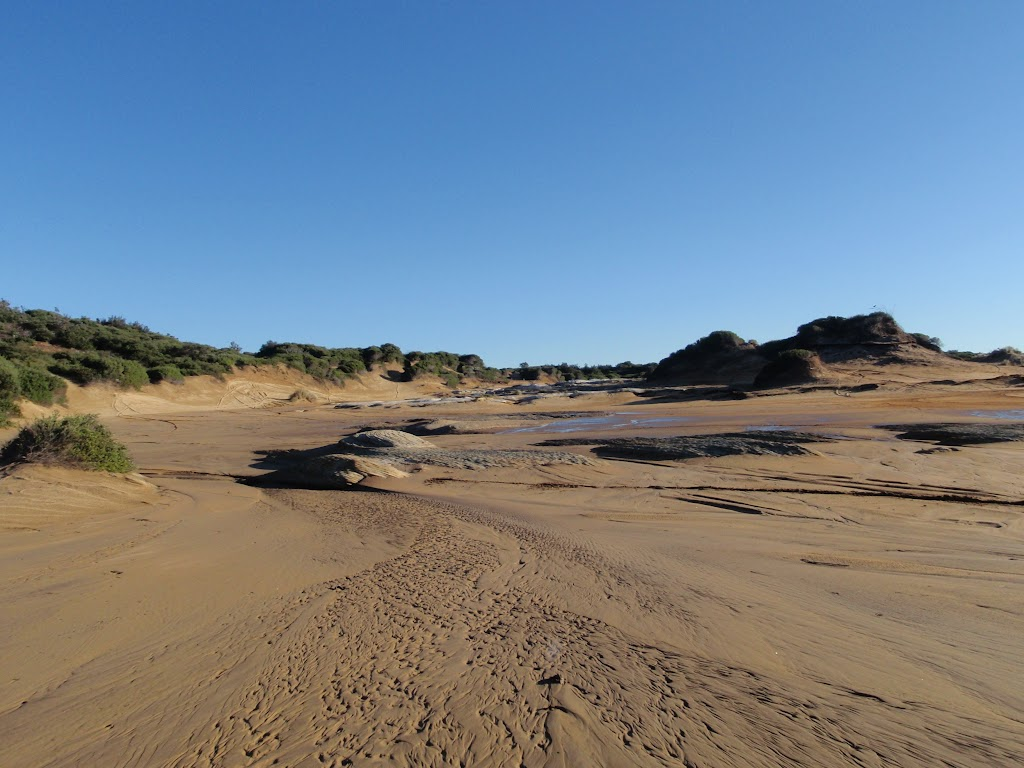 some small sand dunes