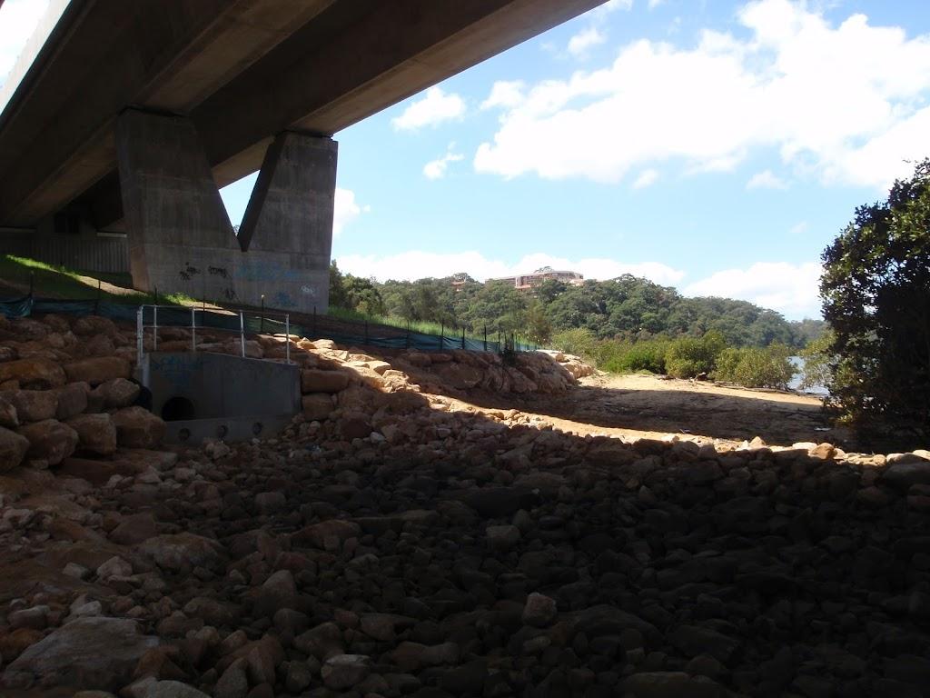 under the alfords point bridge