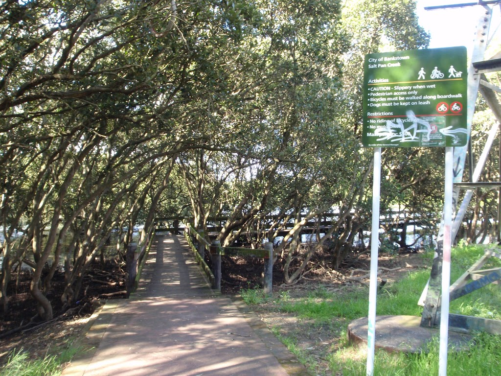 start of the slat pan creek boardwalk (77512)