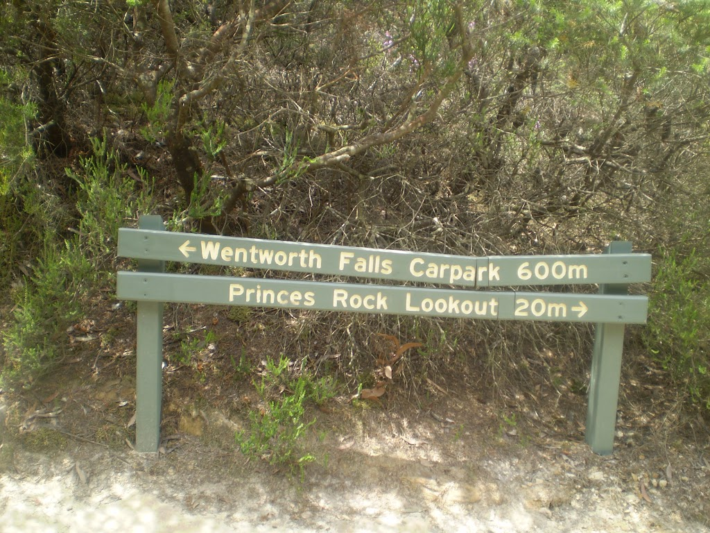 Sign to Wentworth Falls carpark