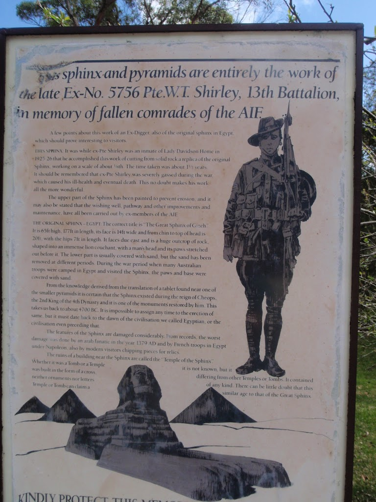 Information sign at Sphinx