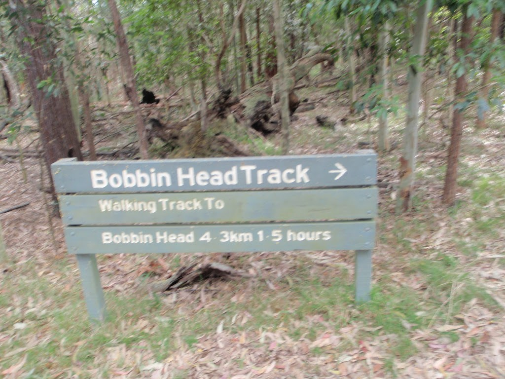 Sign at the top of Bobbin Head Track (78436)