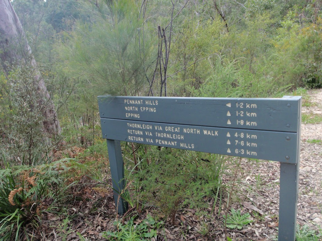 Signpost to Pennant Hills