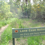 Lane Cove National Park sign