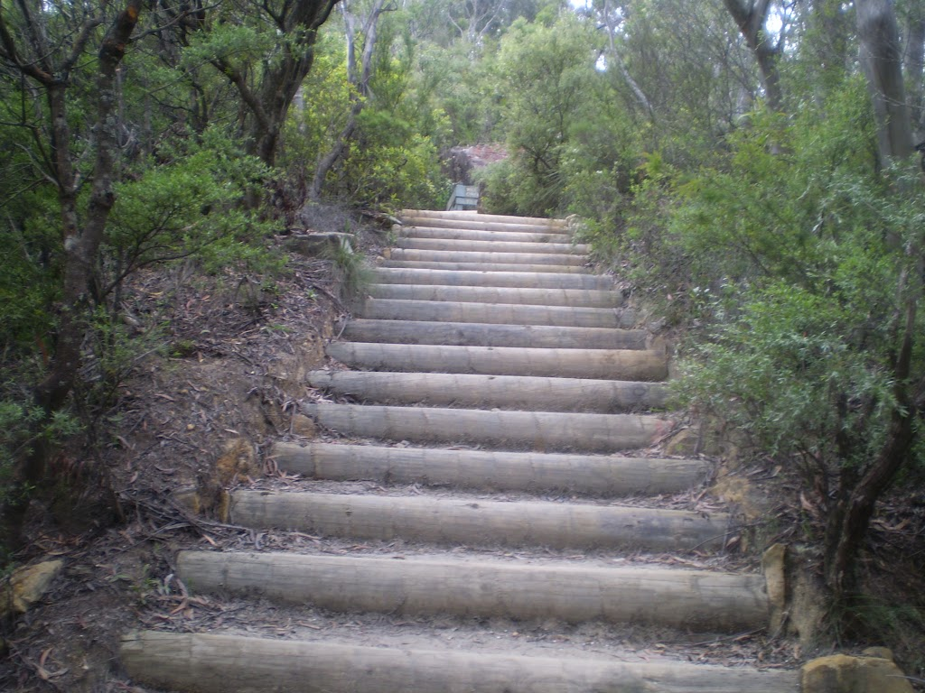 Stairs up to Wentworth Falls Lookout