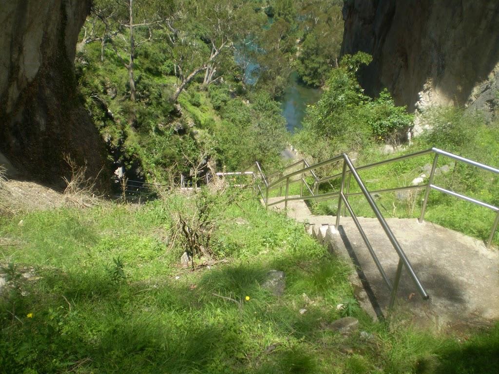 Steps down below Carlotta's Arch