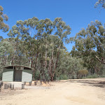 One of the toilets at Pinch River Camping area