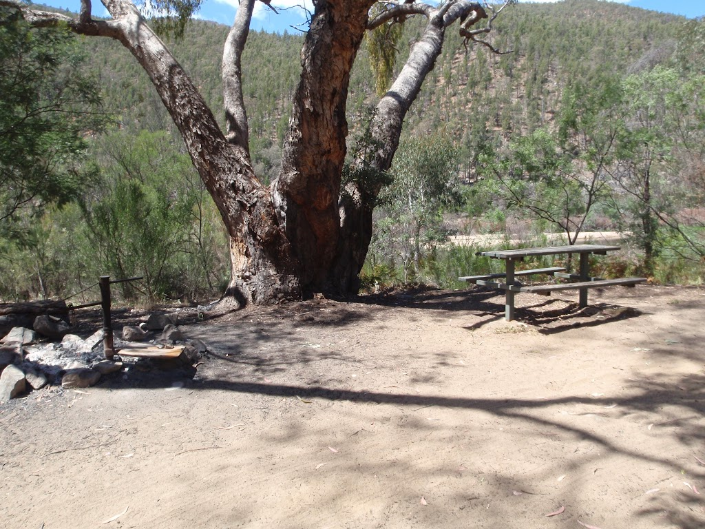 Picnic table at Running Waters