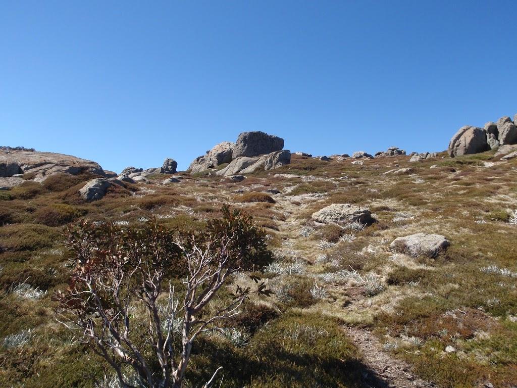 climbing up to top of ridge