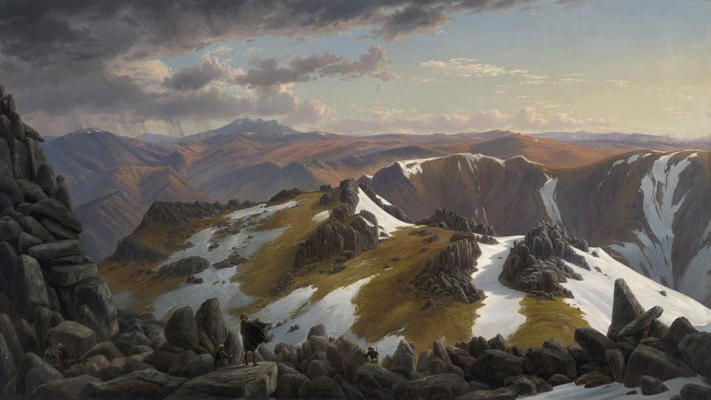 North-east View from the northern top of Mount Koscuski  1863  Eugene von Gu'rard