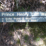 Prince Henry Cliff Walk sign