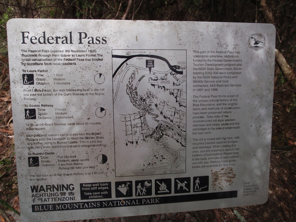 Sign at eastern end of Federal pass