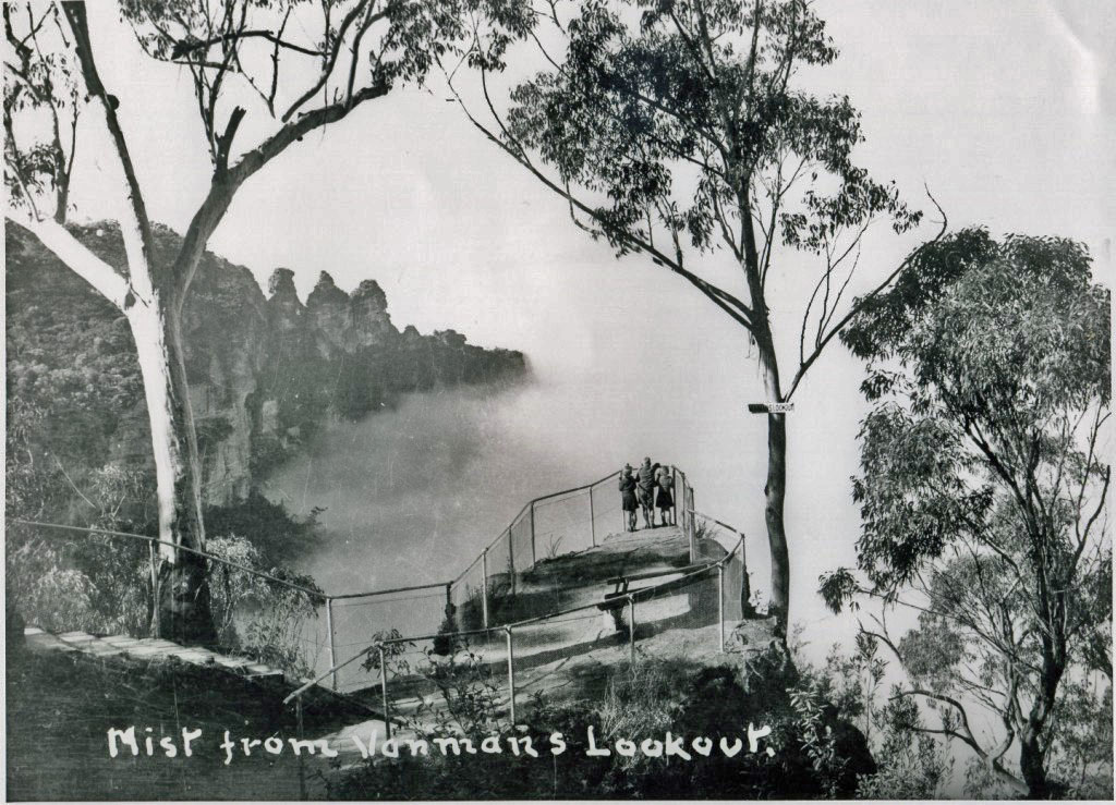 Mist from Vaniman's Lookout 1940 Wallace Green (93883)