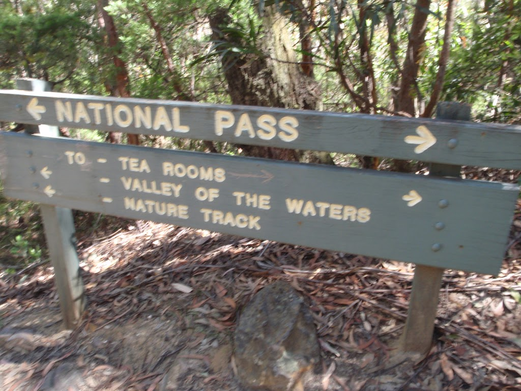 Sign at int of National pass and Valley of the waters