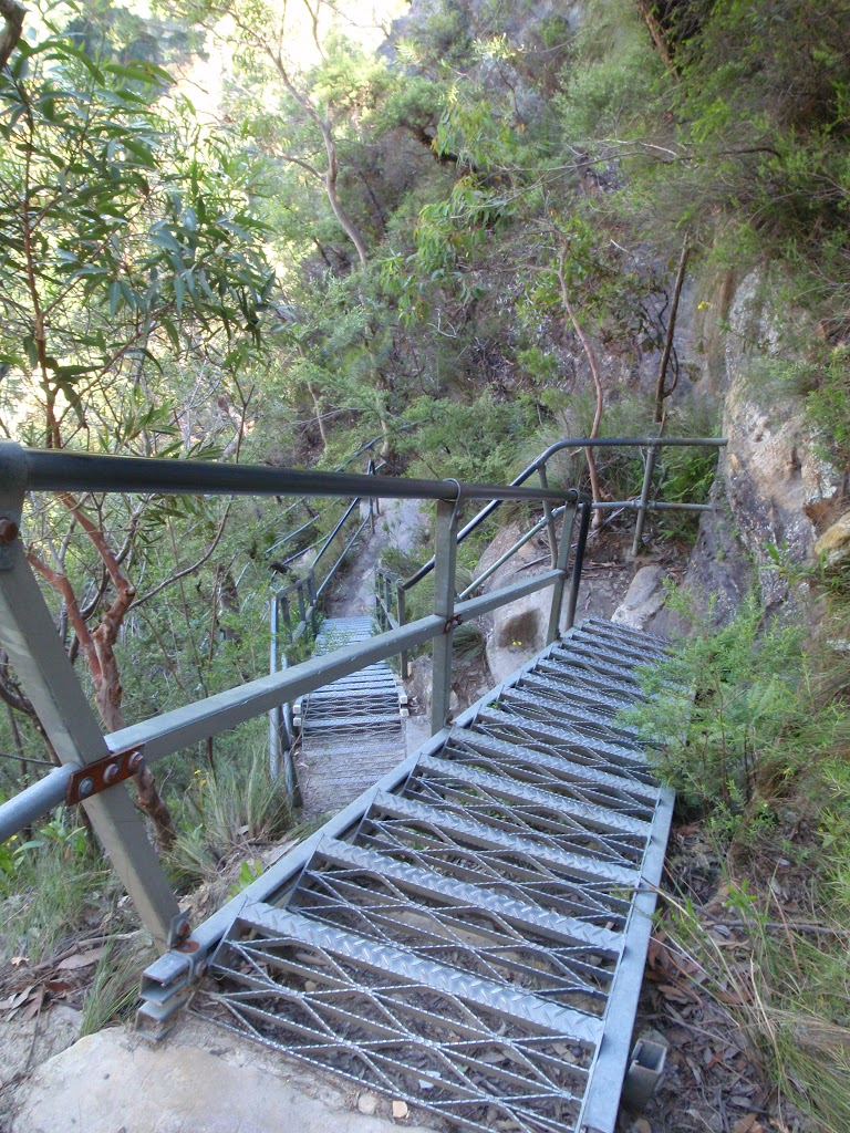 Metal stairs into the Valley of the Waters