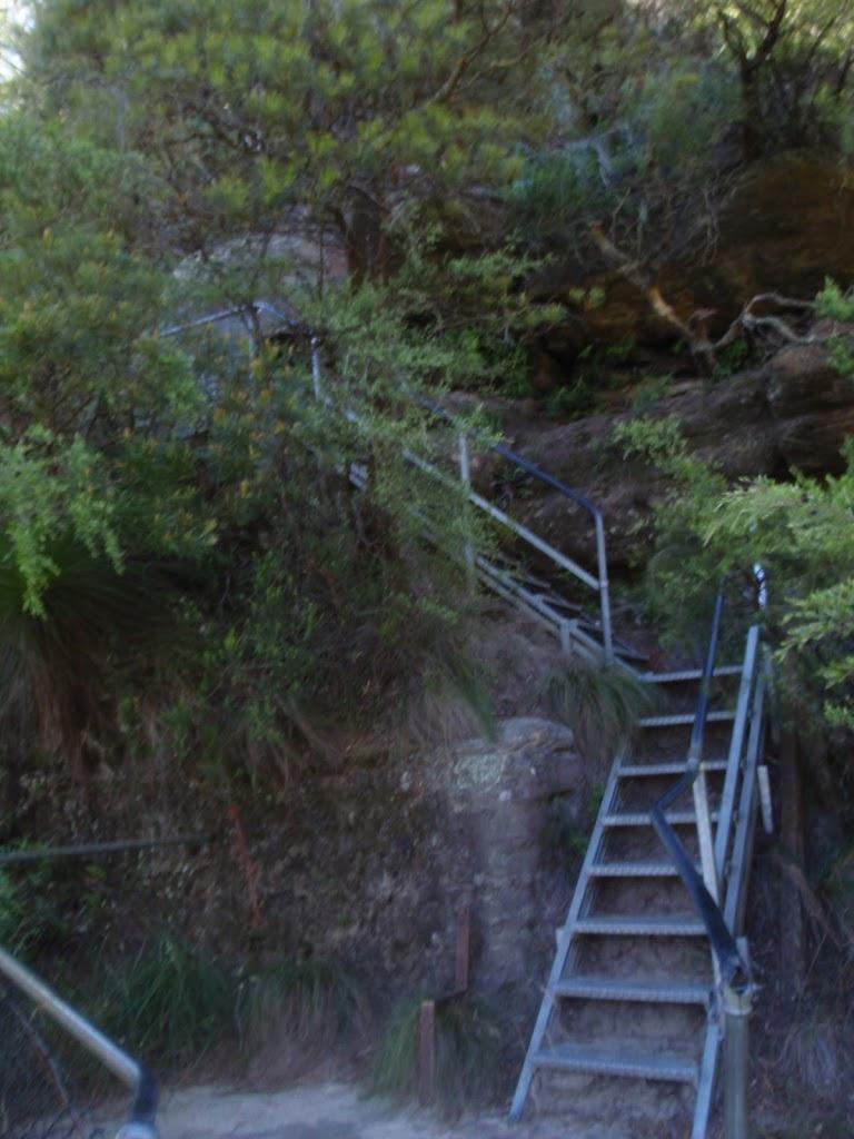 Metal staircase near Leura Cascades