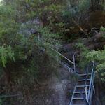 Metal staircase near Leura Cascades (95032)