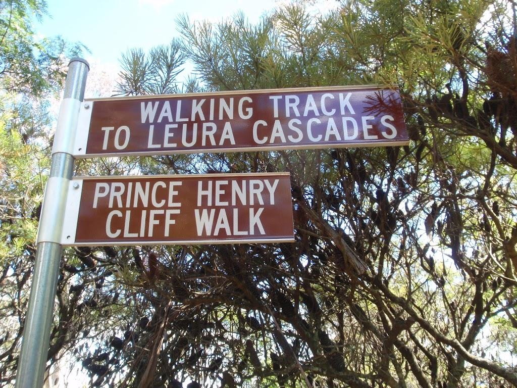 Signage on Prince Henrey Cliff walk