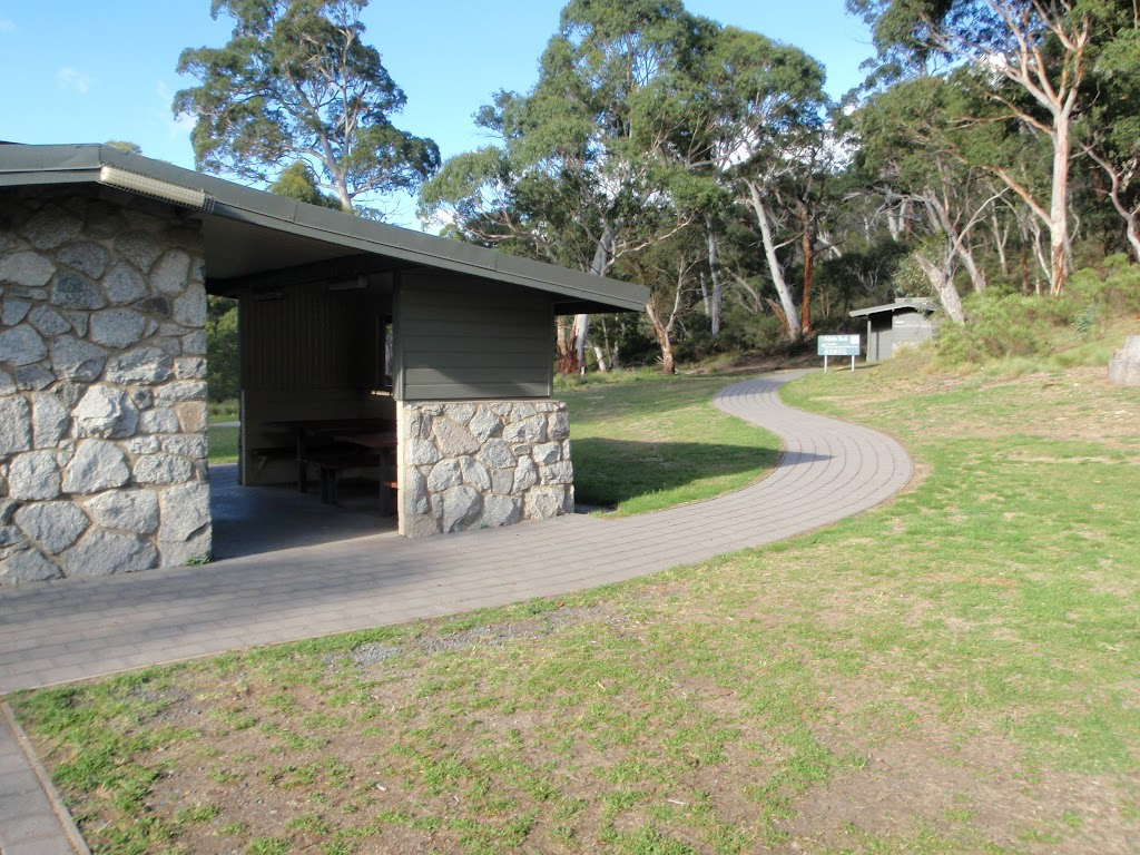 Lower end of the Pallibo Track at Thredbo River Picnic Area