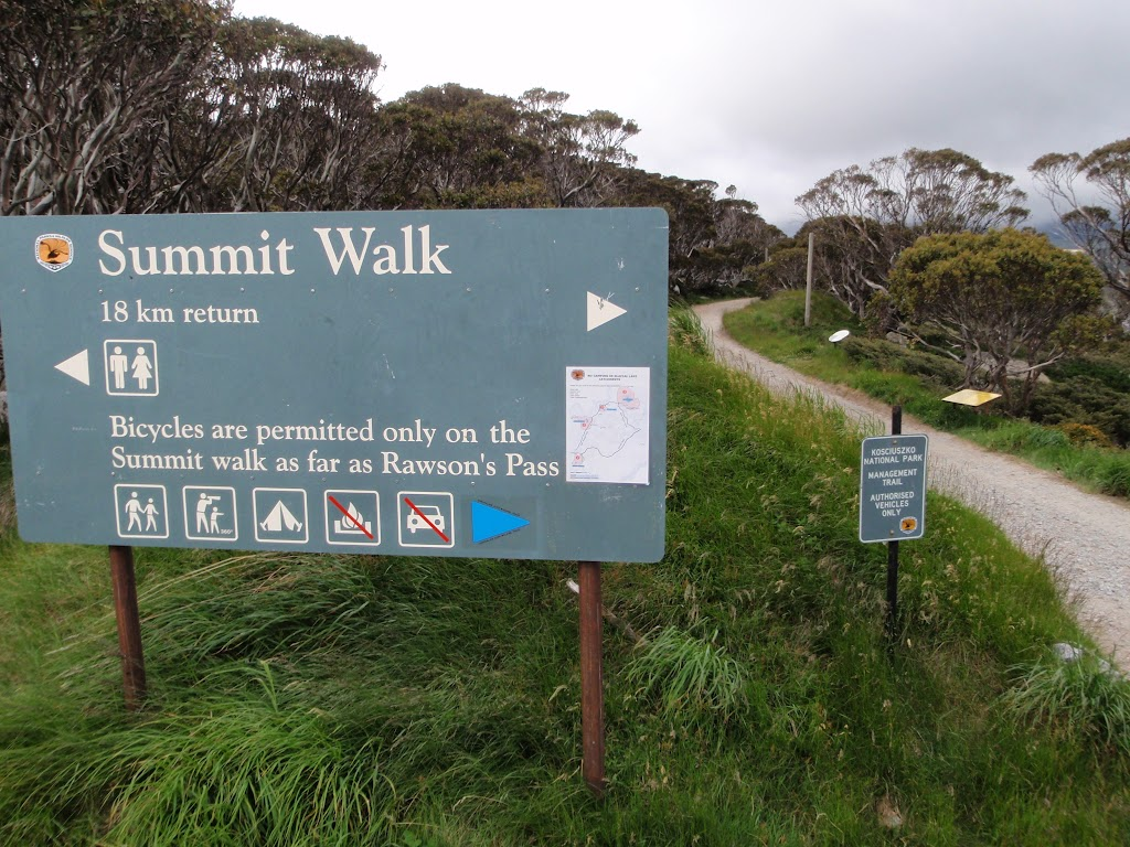 Sign at start of the Summit Walk