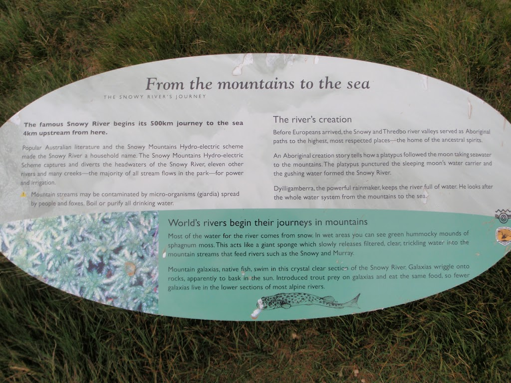 Information sign on the Snowy River