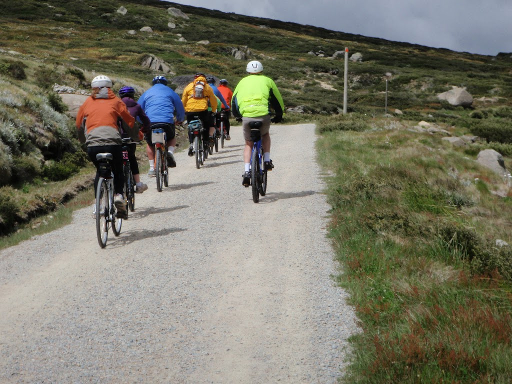 Summit track from Charlotte Pass is popular with cyclists and walkers