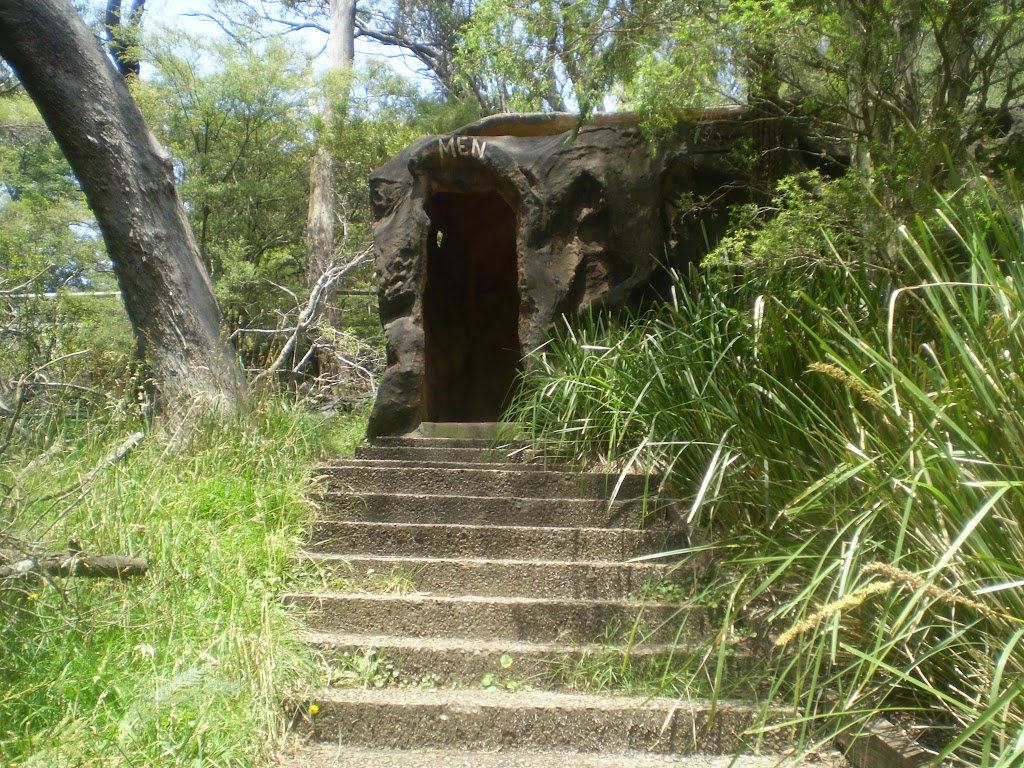 Stairs up to cave toilets