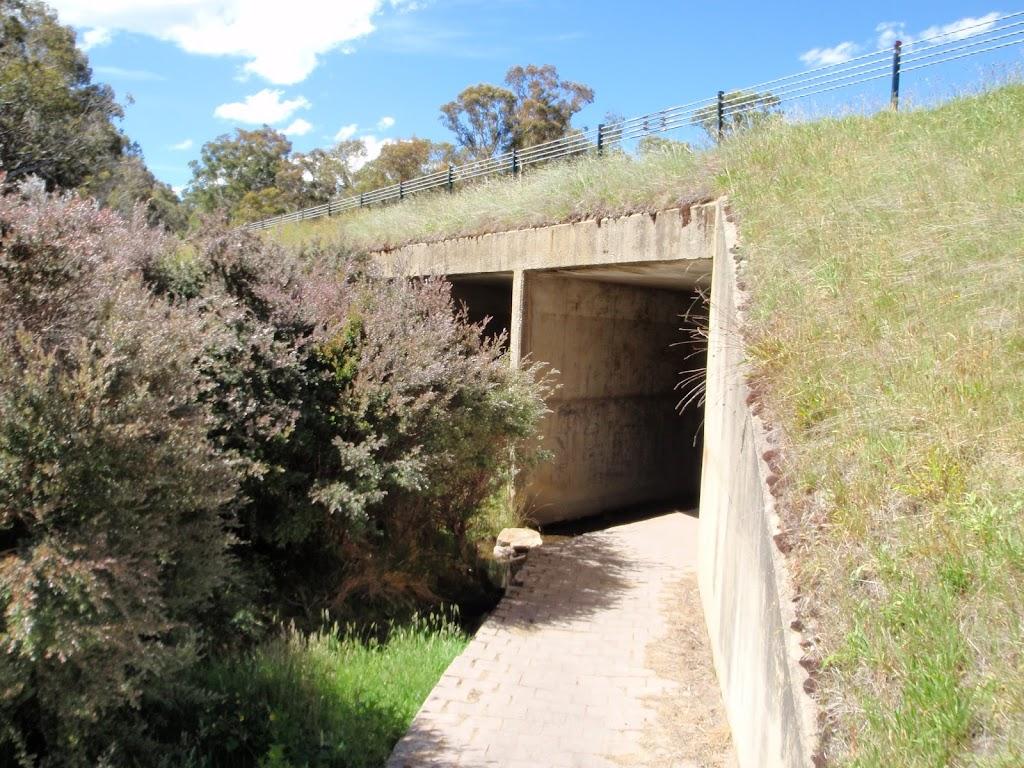 Western side of underpass