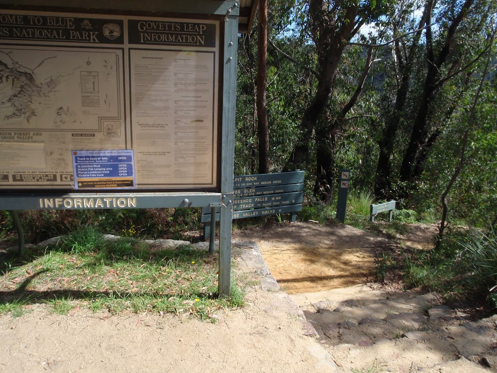 Signposted track away from Govetts Leap lookout (98513)
