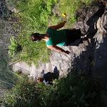 Walkers beneath cliffs (98555)