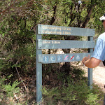 Sign along Coast Track