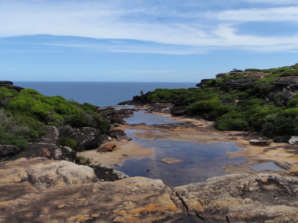 Creek running off sea cliffs