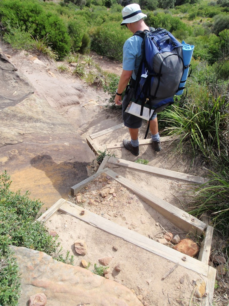 Track down steps to Garie Beach