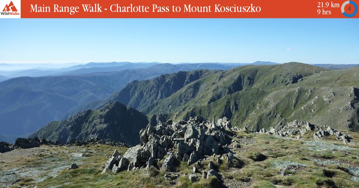 Map Of Australia Mt Kosciuszko.Main Range Walk Charlotte Pass To Mount Kosciuszko Walking Track